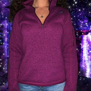 Purple Patagonia sweater jacket